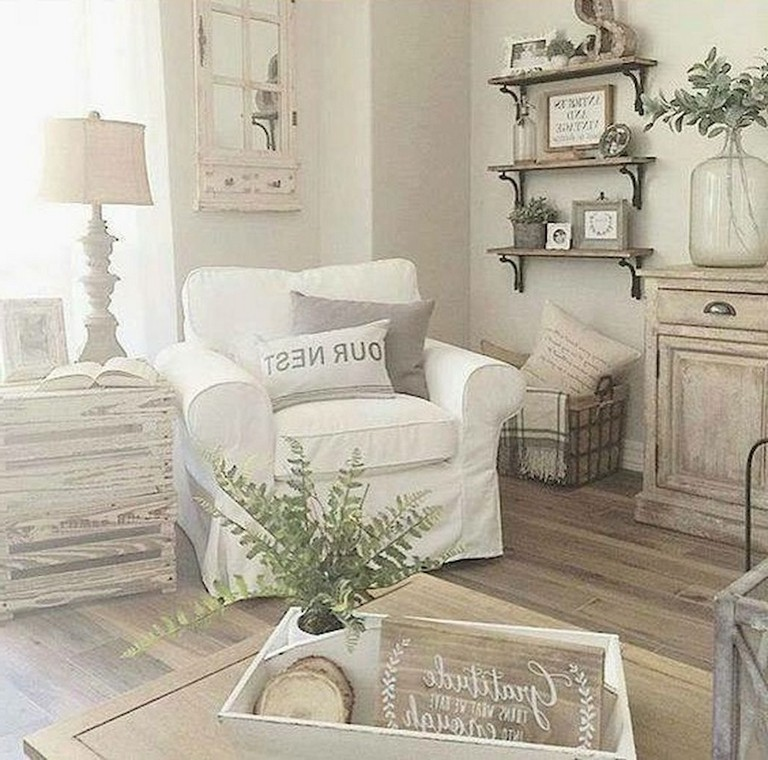 52+ Comfy French Country Living Room Design Ideas