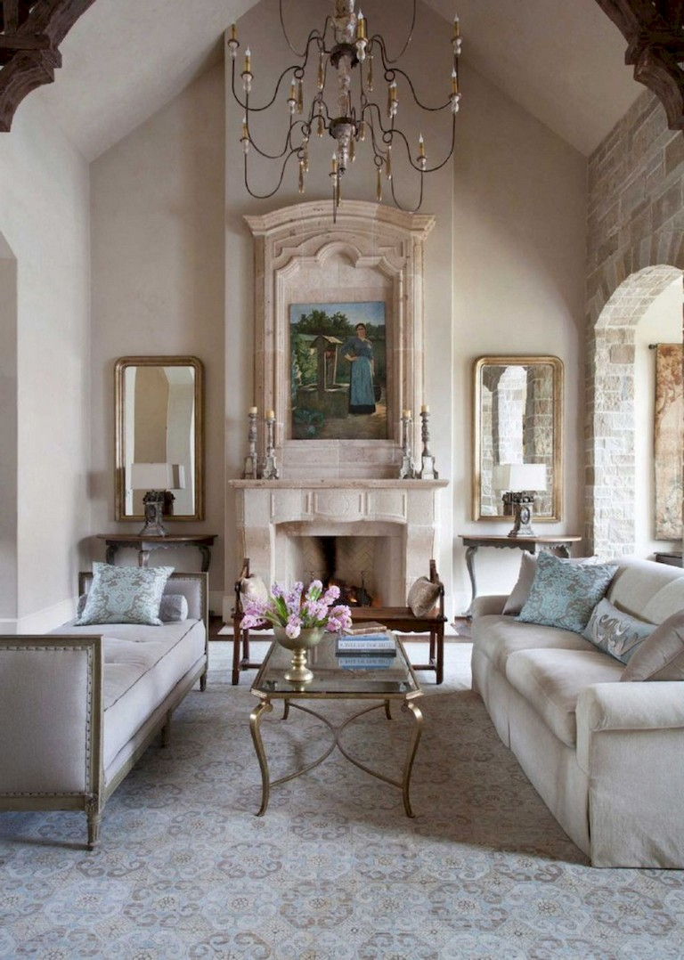52+ Comfy French Country Living Room Design Ideas - Page ...