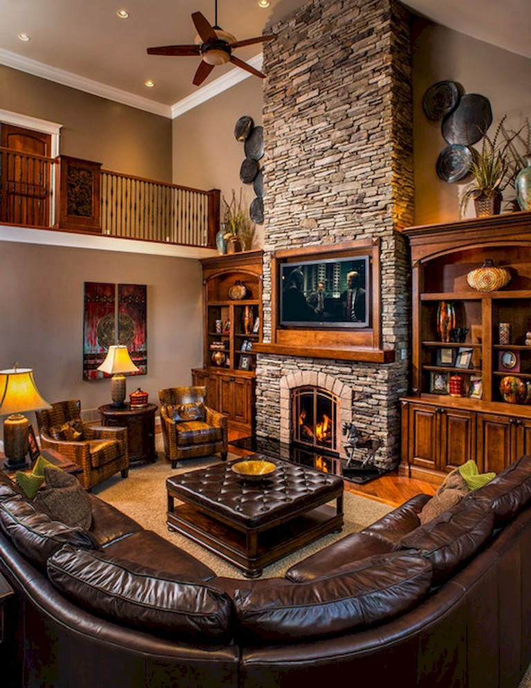 52+ Awesome Rural Living Room Decoration Ideas
