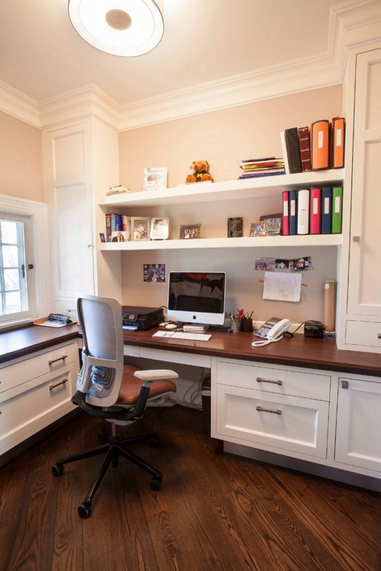 60+ Cozy And Useful Home Office Cabinet Design Ideas