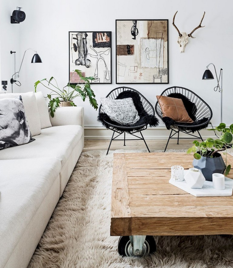 Scandinavian living room layout is getting the