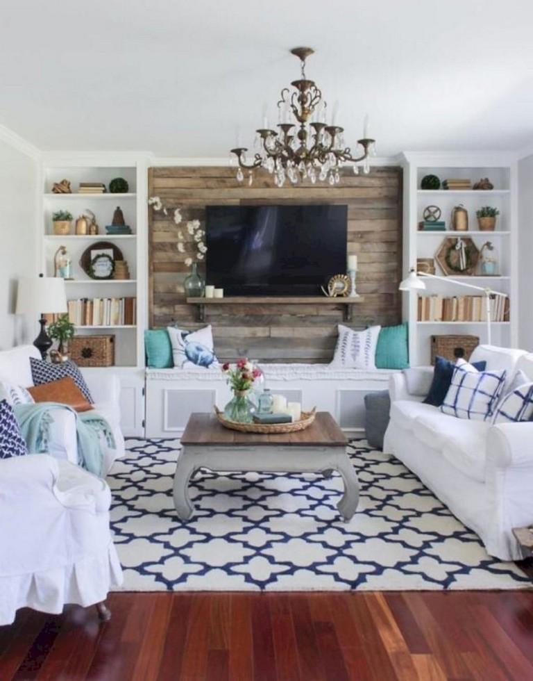 62+ Lovely Rug for Farmhouse Living Room Decorating Ideas ...