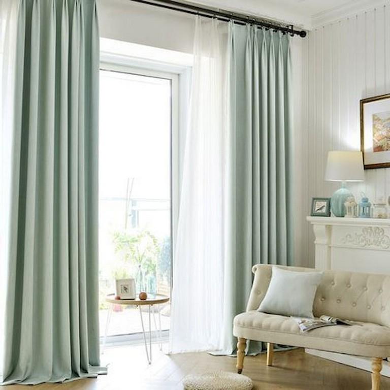 45+ Comfy Modern Farmhouse Living Room Curtains Ideas ...