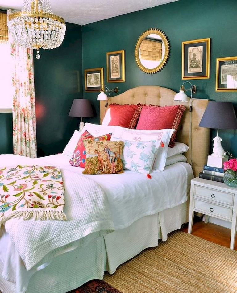 55+ Comfy Eclectic Master Bedroom Decor Ideas and Remodel