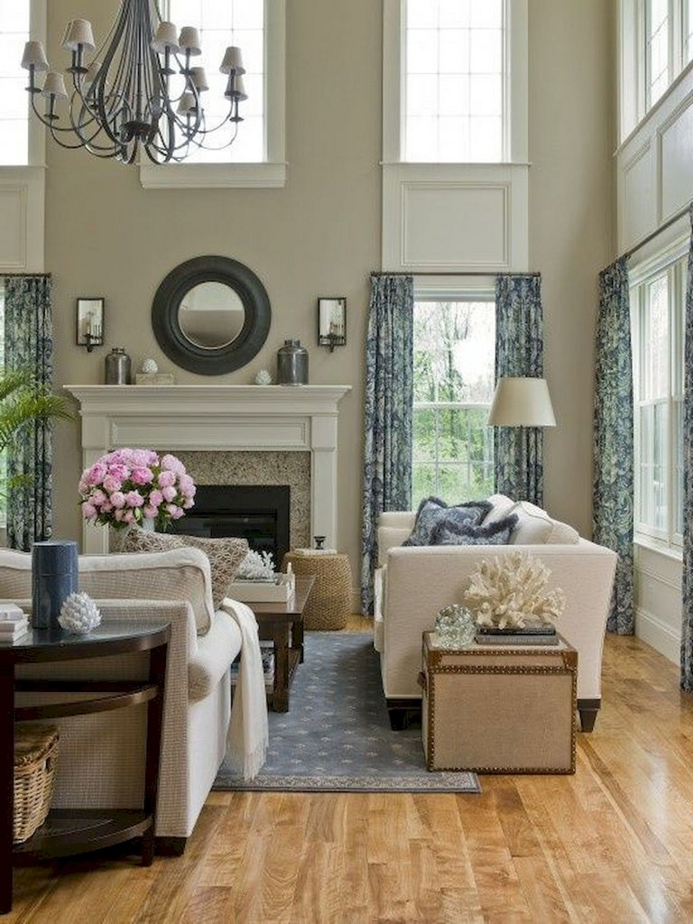 80 lovely curtains for living room window decor ideas