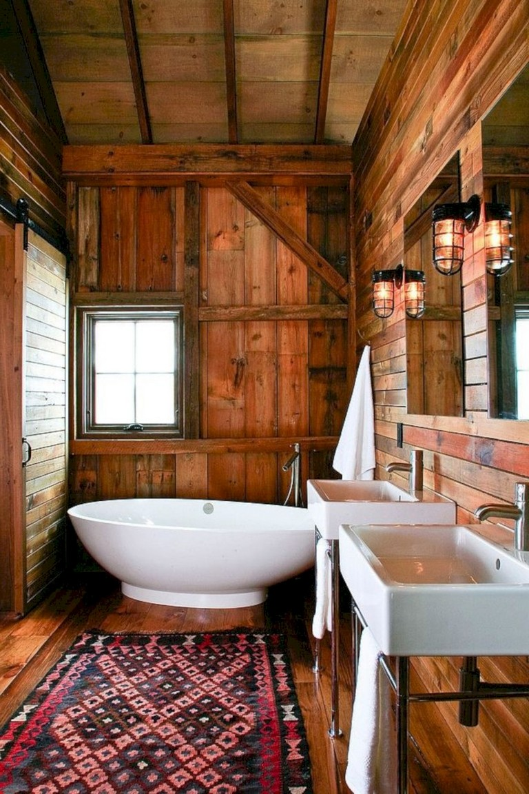 40 Awesome Modern Rustic Bathroom Ideas