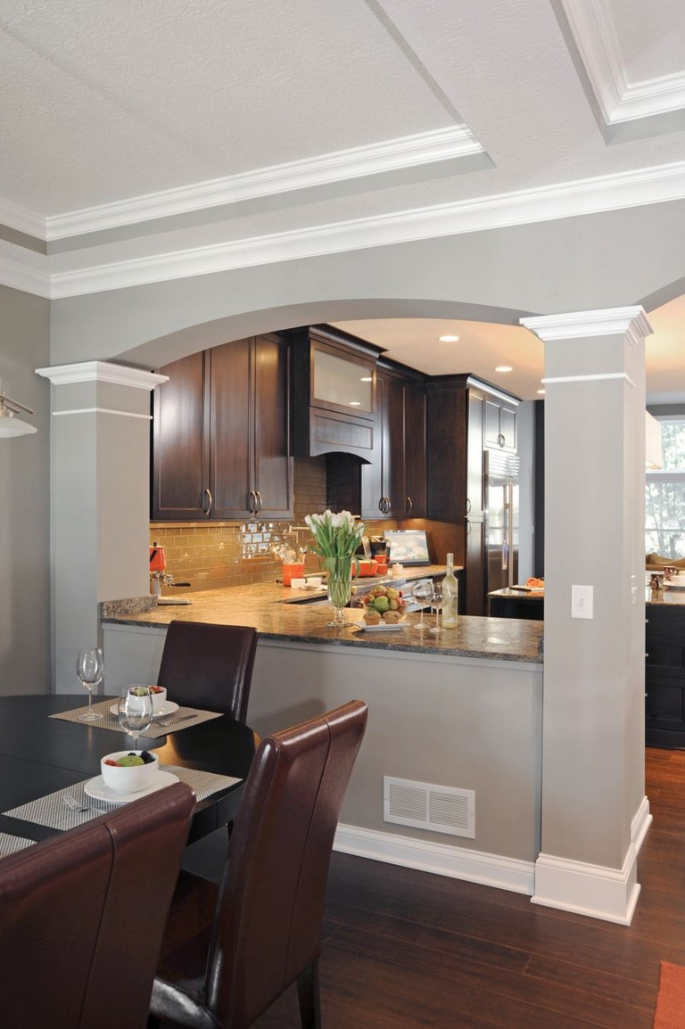 58+ AWESOME HALF WALL KITCHEN DESIGNS IDEAS