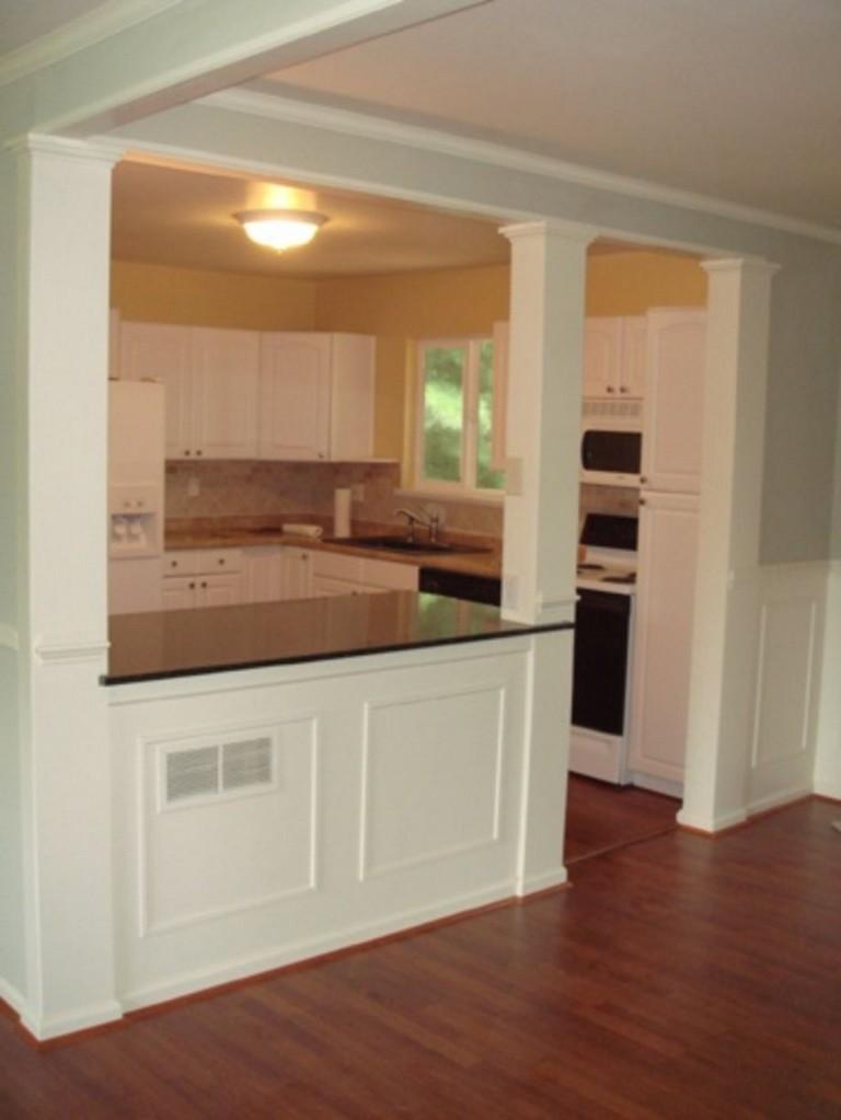 fascinating half idea wall kitchen design | 58+ AWESOME HALF WALL KITCHEN DESIGNS IDEAS - Page 11 of 59