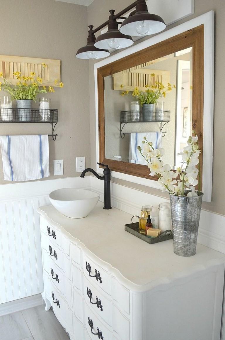 34+ Gorgeous Modern Small Bathroom Vanities Ideas